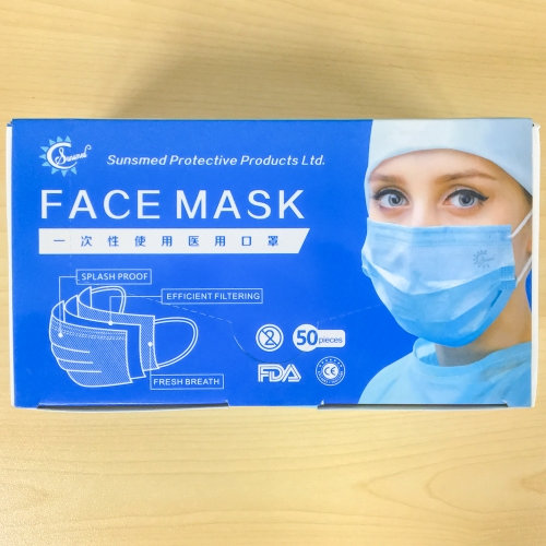Sunsmed Protective Face Mask 3PLY with ear loop for adult 50pcs